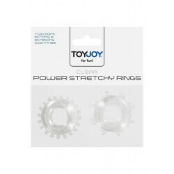 RINGS FOR PENIS POWER STRETCHY RINGS CLEAR 2PCS""