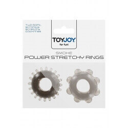 Anelli per Pene Power Stretchy Rings Smoke 2Pcs