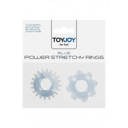 RINGS FOR PENIS POWER STRETCHY RINGS BLUE 2PCS""