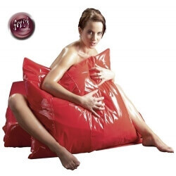 PILLOWCASE CUSHION LACQUERED RED