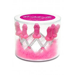 """A CROWN OF FEATHERS WITH INSERTS IN THE SHAPE OF A PENIS PECKER PARTY TIARA"""""""
