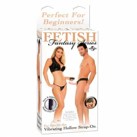 VIBRATOR WEARABLE FF VIBRATING HOLLOW STRAP ON - FLESH