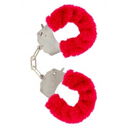 Handcuffs plush color red,for erotic games