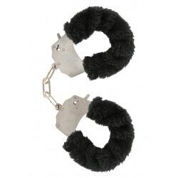Handcuffs plush color black,for erotic games