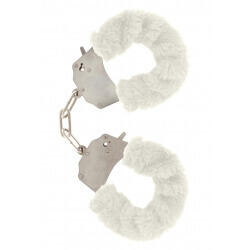Handcuffs plush color white,for erotic games