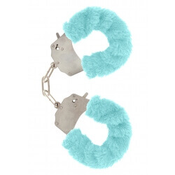 Handcuffs plush color blue,for erotic games