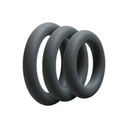 Set rings OPTIMALE 3 C-RING SET THICK SLATE