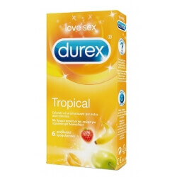 CONDOMS DUREX 'TROPICAL' 6 PIECES