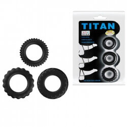Kit anello Titan Cock Ring blu