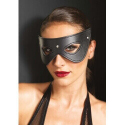 MASCHERA Faux Leather Studded Eye Mask