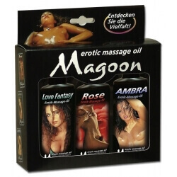 SET MASSAGE OIL MAGOON - 3 ASSORTED PIECES, 100 ML