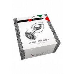 Plug anal silver Large 12 cm