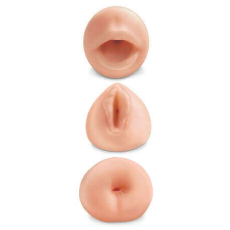 Kit Masturbators Realistic All 3 Holes Mouth Vagina Anus