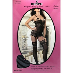 Bodystocking Black Lace Stockings one size
