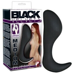 Plug Anale Black Velvet Silicone Butt Plug Medium