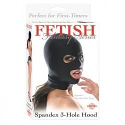 Maschera Testa FF Spandex 3 Hole Hood Black Fetish Fantasy