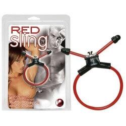 RING FOR PENIS RED SLING